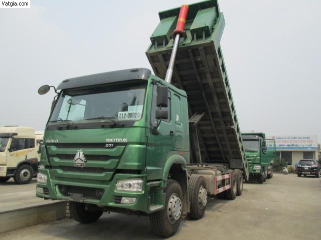 Xe tải ben Howo 4 chân 371hp thùng 7.8m